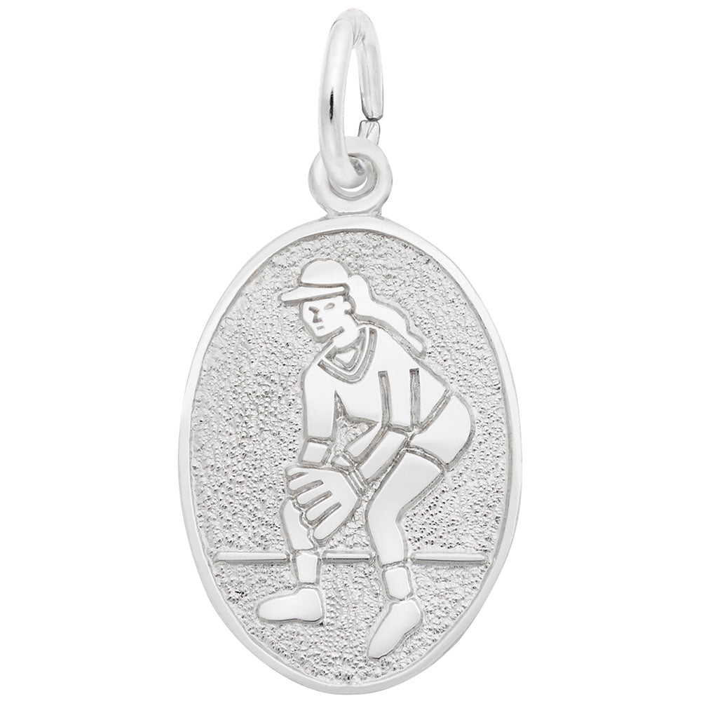 Rembrandt Charms, Softball, Engravable