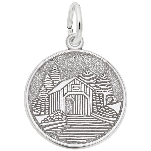 Rembrandt Charms, Covered Bridge, Engravable