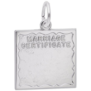 Rembrandt Charms, Marriage Certificate, Engravable