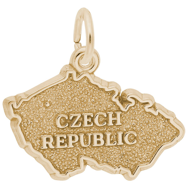 Rembrandt Charms, Czech Map, Engravable