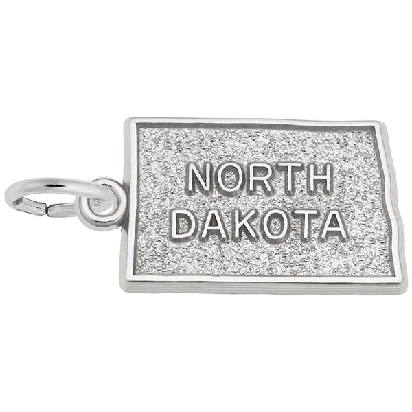 Rembrandt Charms, North Dakota, Engravable