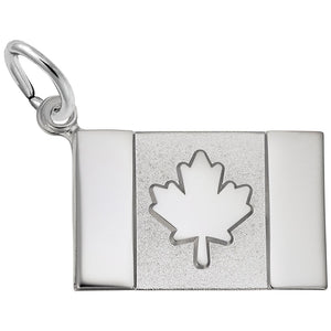 Rembrandt Charms, Canadian Flag, Engravable