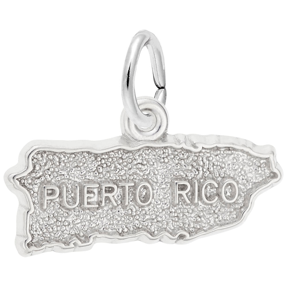 Puerto Rico Map, Engravable