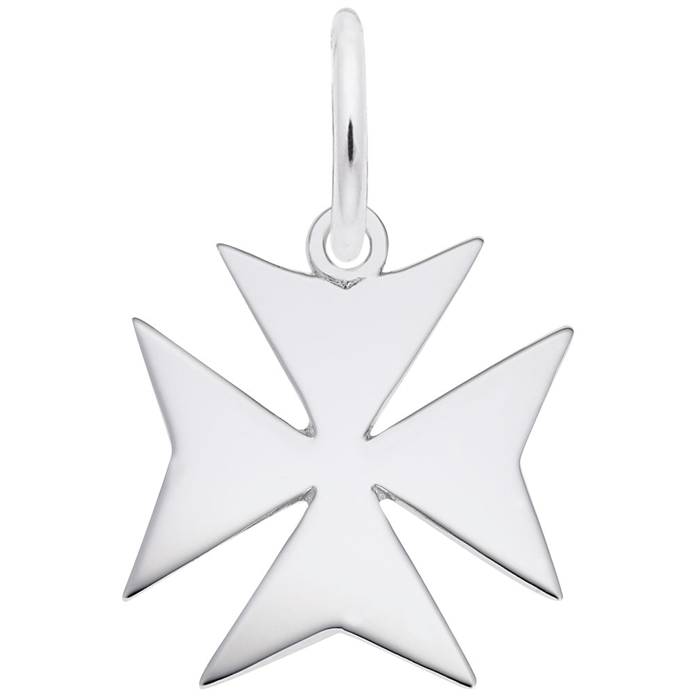 Rembrandt Charms, Maltese Cross, Engravable