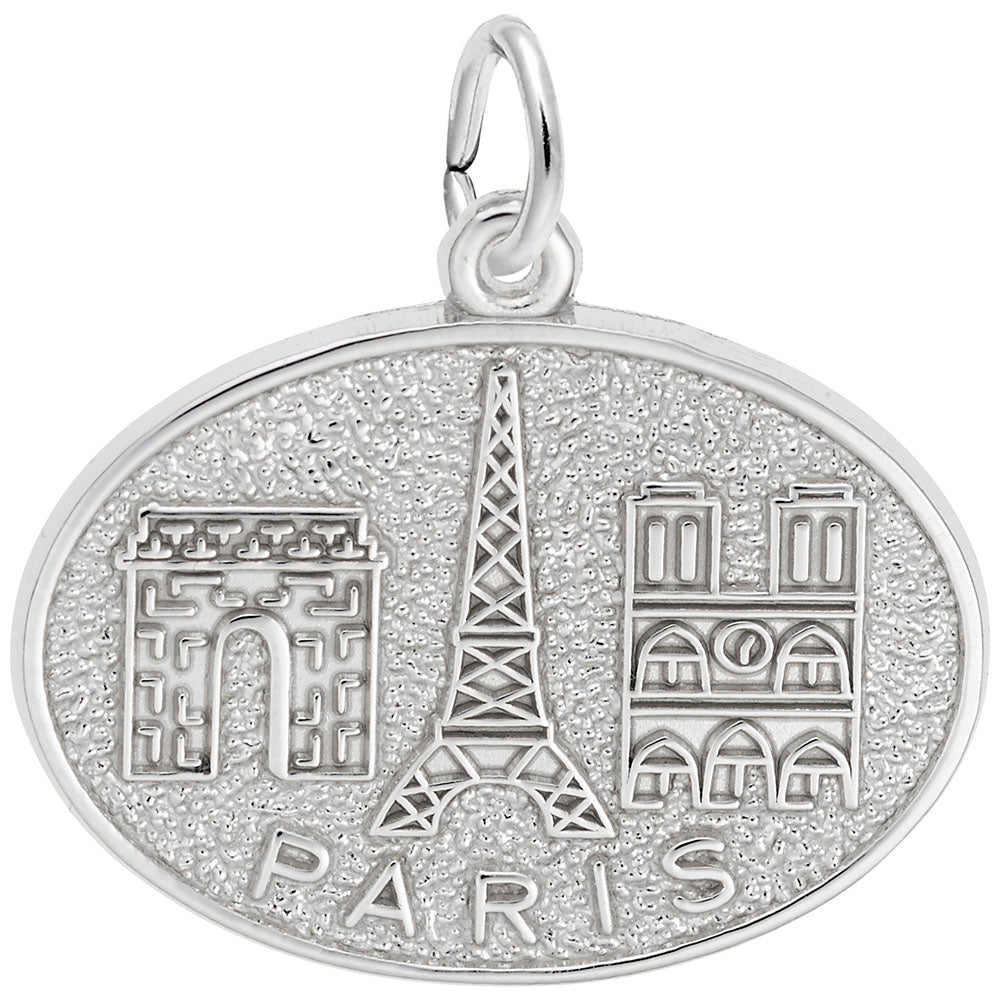 Rembrandt Charms, Paris Monuments, Engravable
