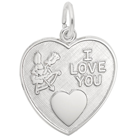 Rembrandt Charms, Cupid I Love You, Engravable