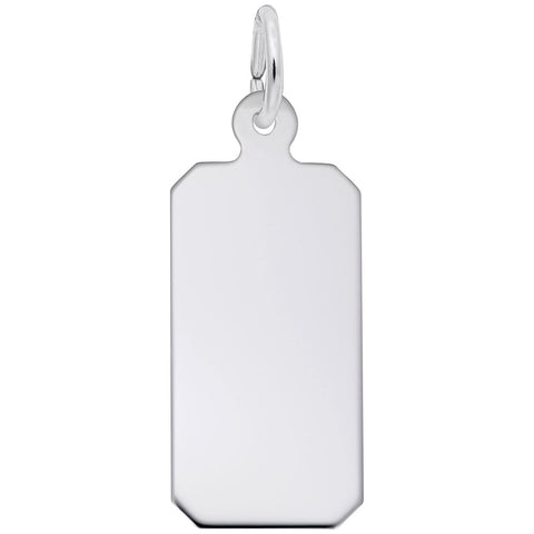 Rembrandt Charms, Rectangle Dog Tag, Engravable