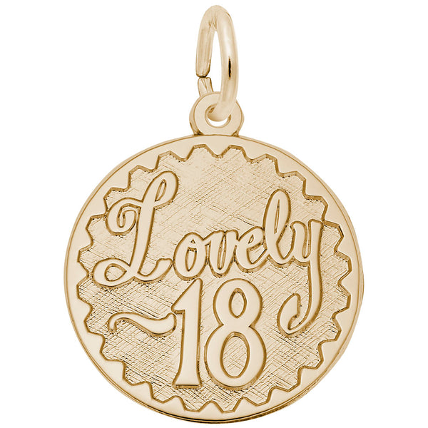 Rembrandt Charms, Lovely 18, Engravable