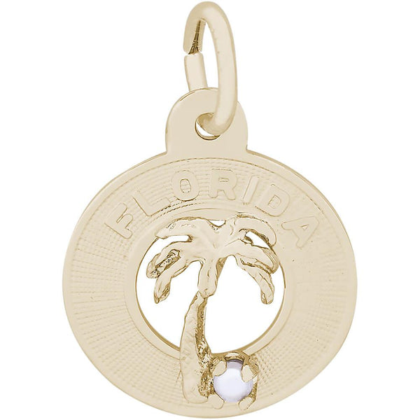 Rembrandt Charms, Florida Palm Tree, Engravable