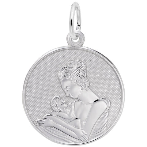 Mom Holding Baby, Engravable