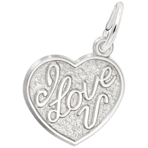 Rembrandt Charms, I Love You Heart, Engravable