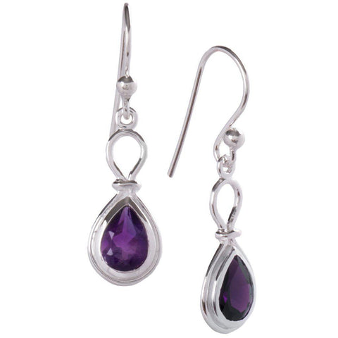 Yoke Earrings, Amethyst-Earring-teklaestelle-teklaestelle