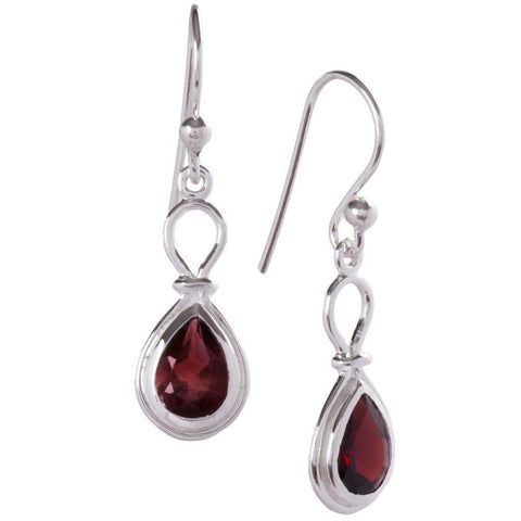Yoke Earrings, Garnet-Earring-teklaestelle-teklaestelle