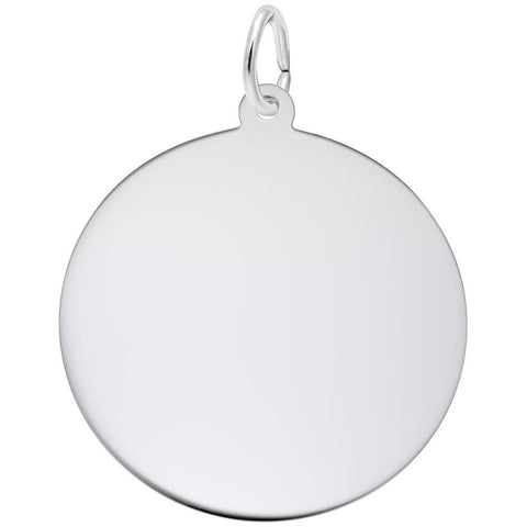 Round Disc (26mm x .5mm), Engravable