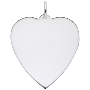 Rembrandt Charms, 24mm Classic Heart, Engravable
