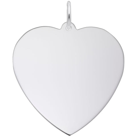 Rembrandt Charms, 29mm Classic Heart, Engravable