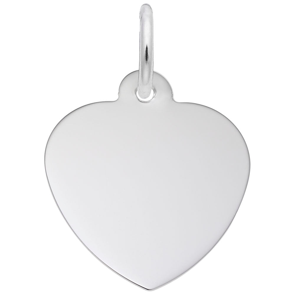 14mm Classic Heart, Engravable