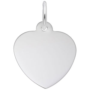 Rembrandt Charms, 14mm Classic Heart, Engravable
