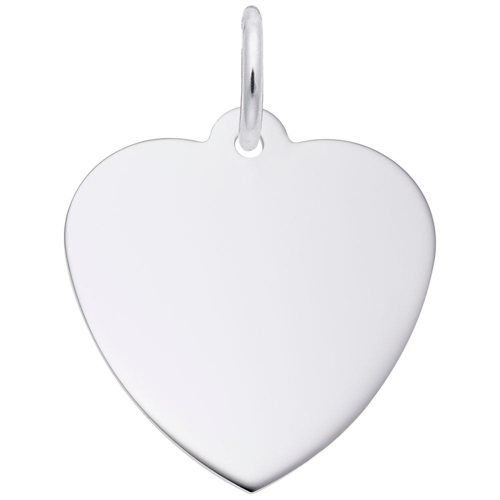 17mm Classic Heart, Engravable