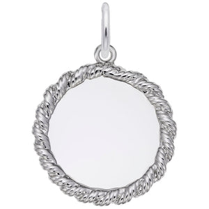 Rembrandt Charms, 18mm Twisted Rope Disc, Engravable