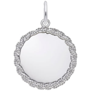 Rembrandt Charms, 19mm Twisted Rope Disc, Engravable