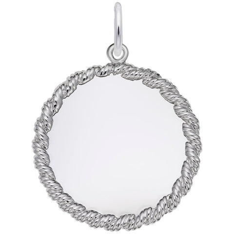 Rembrandt Charms, 23mm Twisted Rope Disc, Engravable