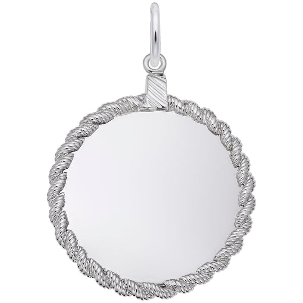 Rembrandt Charms, 26mm Twisted Rope Disc, Engravable