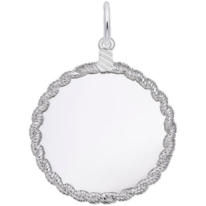 Rembrandt Charms, 30mm Twisted Rope Disc, Engravable