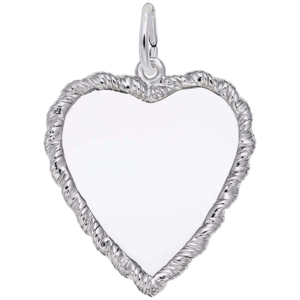 27mm Roped Heart, Engravable