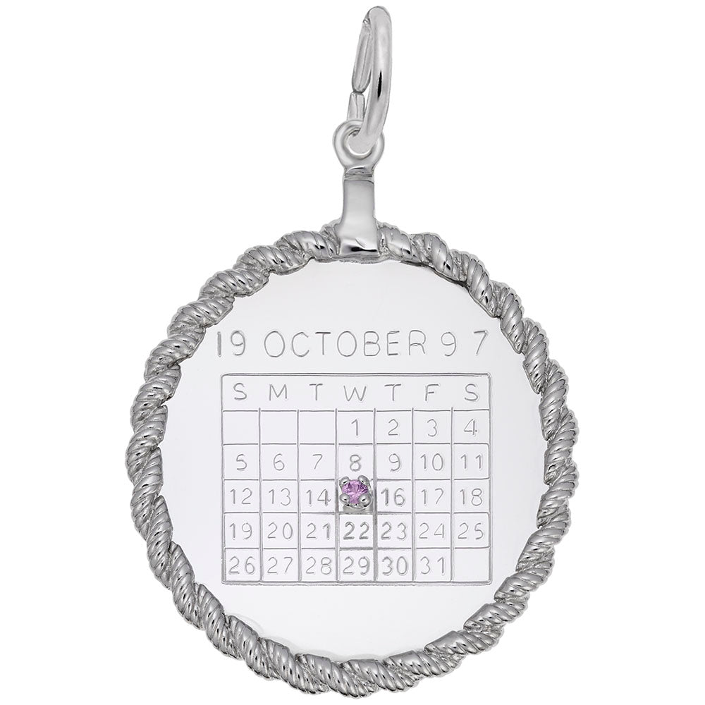 Rembrandt Charms, Roped Round Calendar, Engravable