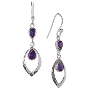 Shimmer Earrings, Amethyst-Earring-teklaestelle-teklaestelle