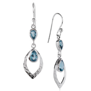Shimmer Earrings, Blue Topaz-Earring-teklaestelle-teklaestelle