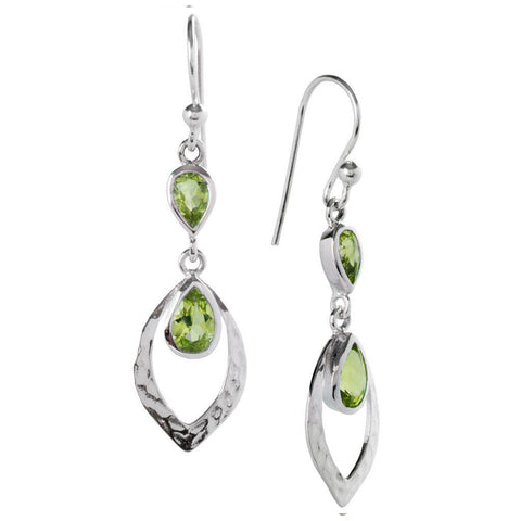 Shimmer Earrings, Peridot-Earring-teklaestelle-teklaestelle