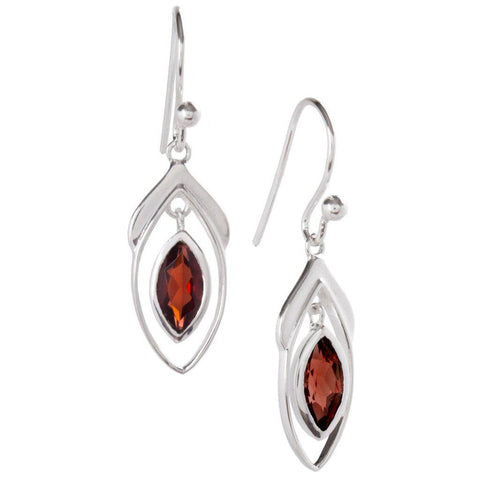 Vise Earrings, Garnet-Earring-teklaestelle-teklaestelle