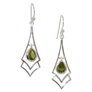 Spear Earrings, Peridot-teklaestelle