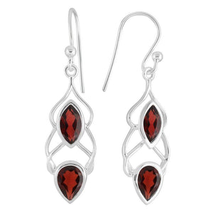 Helix Earrings, Garnet-Earring-teklaestelle-teklaestelle