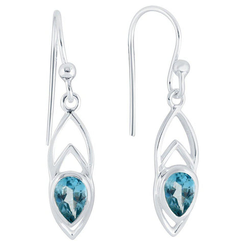 Ditto Earrings, Blue Topaz