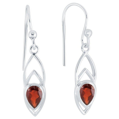 Ditto Earrings, Garnet-Earring-teklaestelle-teklaestelle
