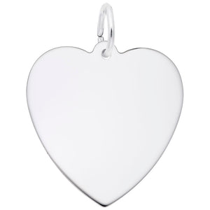 Rembrandt Charms, 22mm Classic Heart, Engravable