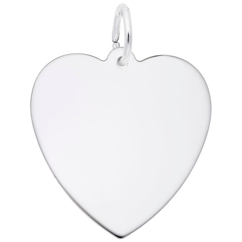 22mm Classic Heart, Engravable