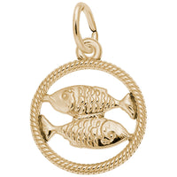Pisces / 22k Gold Plate on Silver