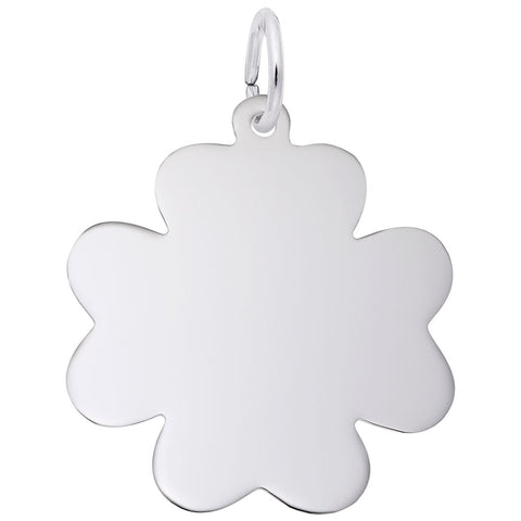Rembrandt Charms, Clover Disc, Engravable