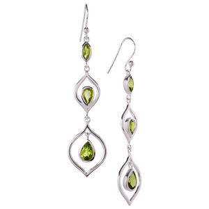 Trickle Earrings, Peridot-Earring-teklaestelle-teklaestelle