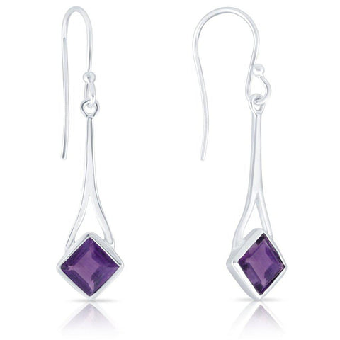 Delight Earrings, Amethyst