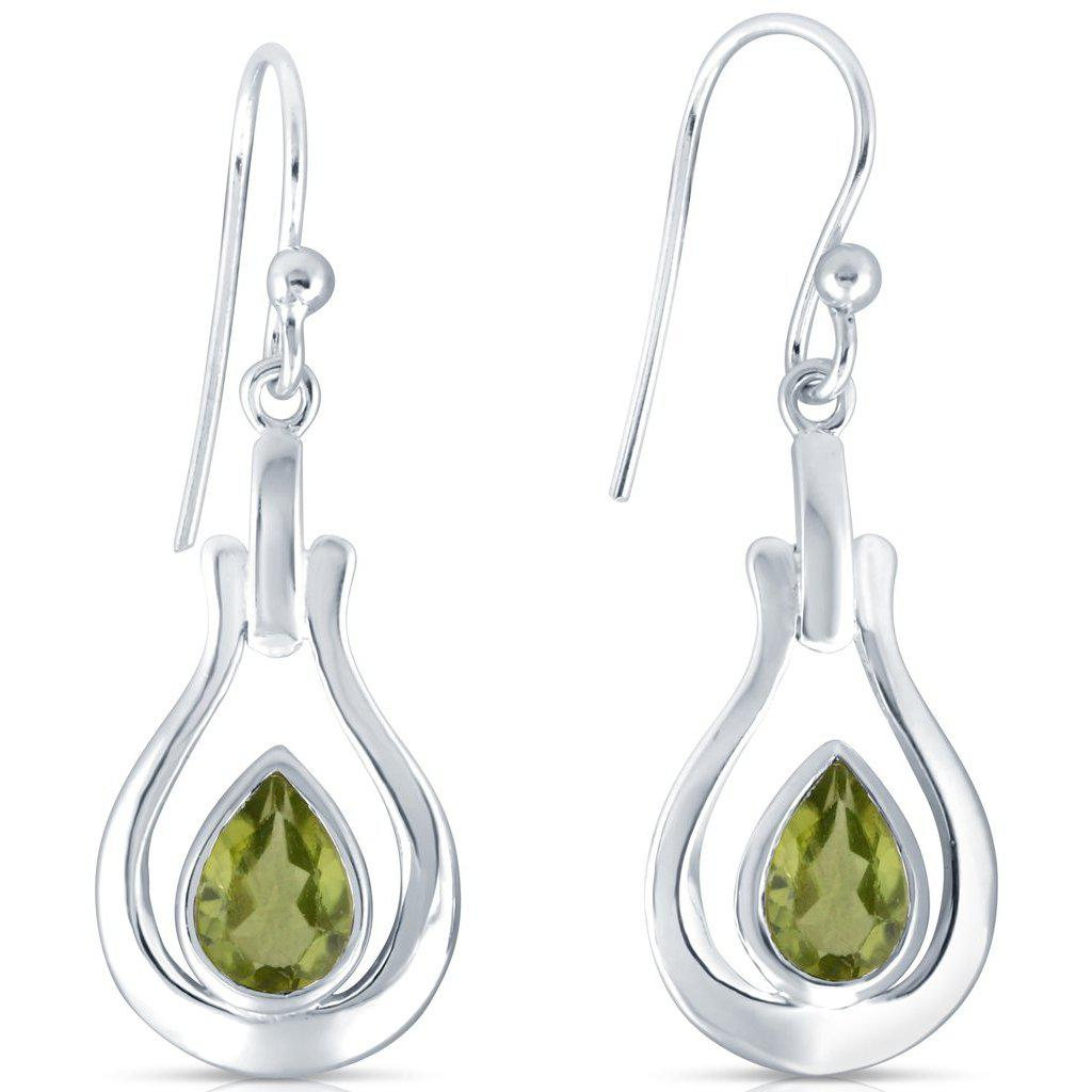 Swing Earrings, Peridot-Earring-teklaestelle-teklaestelle