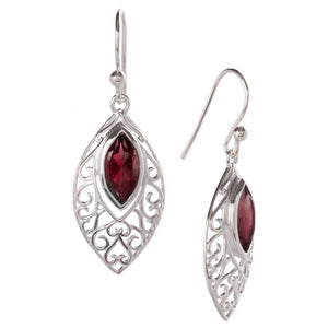 Secret Love Earrings, Garnet-Earring-teklaestelle-teklaestelle