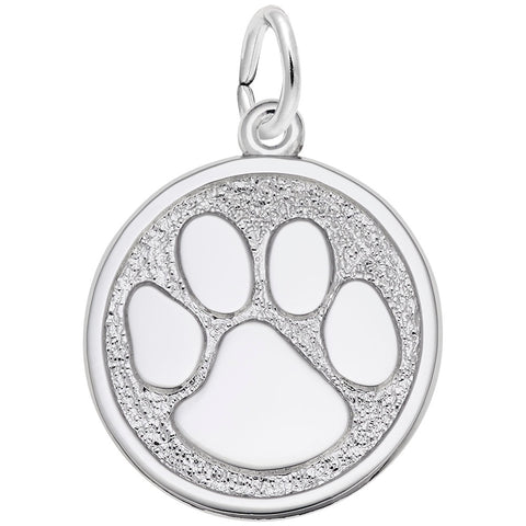 Rembrandt Charms, Paw Print, Large, Engravable