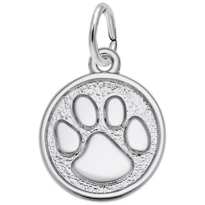 Rembrandt Charms, Paw Print, Small, Engravable