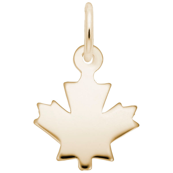 Rembrandt Charms, Maple Leaf, Engravable