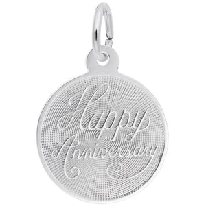 Rembrandt Charms, Small Happy Anniversary Disc, Engravable